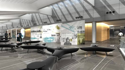 A new terminal being built at Wichita airport will replace the one that opened in 1954. By the time construction is completed in spring 2015, the airport will have a new name: Wichita Dwight D. Eisenhower National Airport.