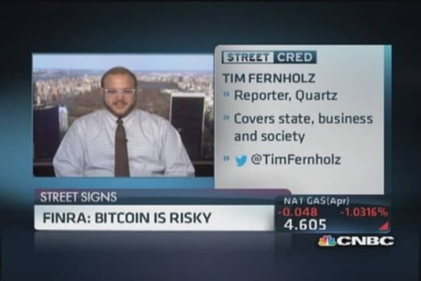 FINRA: Bitcoin is risky