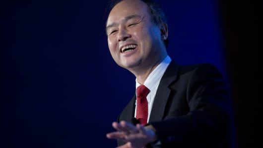 Masayoshi Son, chairman, president and chief executive officer of SoftBank Corp.