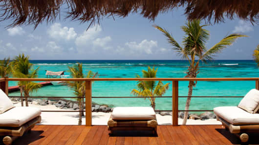 Necker Island, in the British Virgin Islands