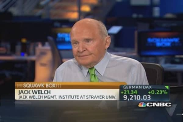Welch: It's a 'where else do you go' stock market