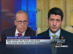 Rep. Ryan: Need to reintegrate people from poverty
