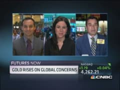 Futures Now: Gold rises on global concerns