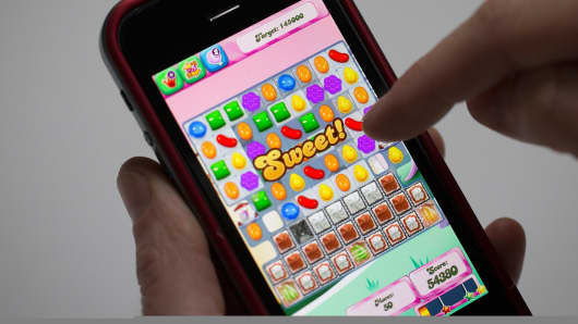 Candy Crush saga game on iPhone
