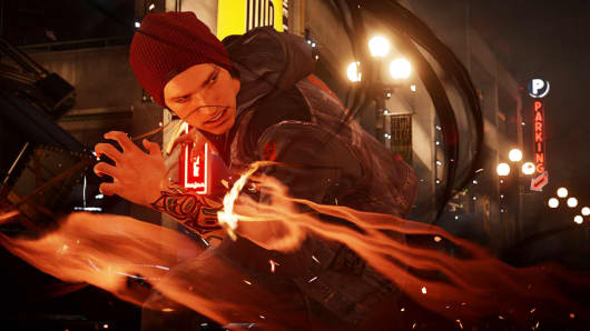 "Screen image from Sony's ""Infamous Second Son"""