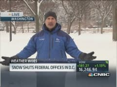 Winter blast shuts down DC federal offices
