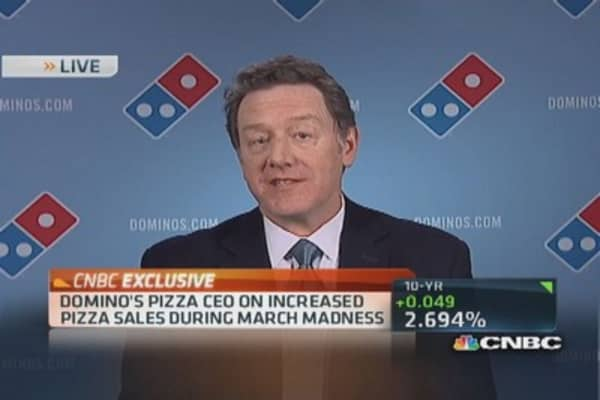 Domino's CEO: March Madness pizza time