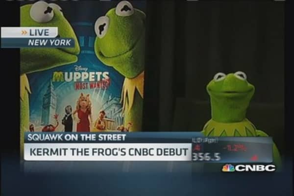 Kermit the Frog on Muppets magic