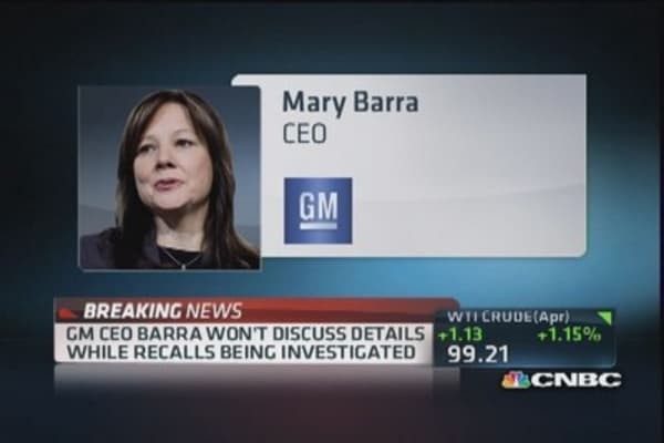 GM's Barra goes on record about recall
