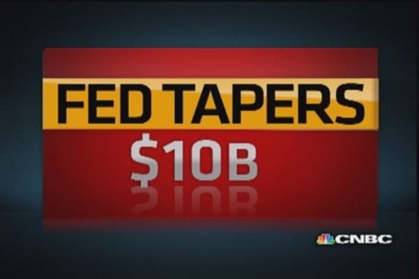 Fed tapers by $10 billion