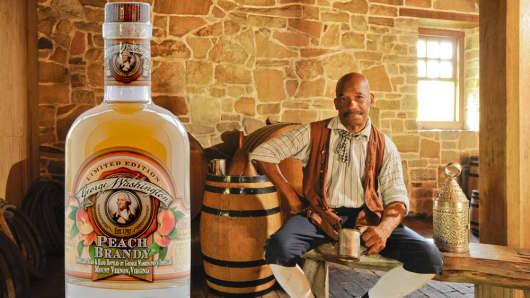 George Washington Peach Brandy.