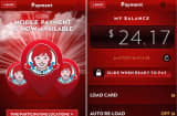 Wendy's mobile payment app for iPhone