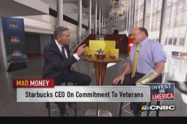 Starbucks CEO on commitment to veterans