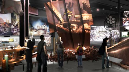 Rendering of the planned 9/11 Memorial Museum, New York.