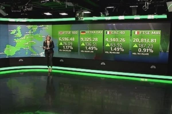 Europe shares close higher on German data
