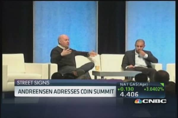 Andreessen calls bitcoin bulletproof, has words for Buffett
