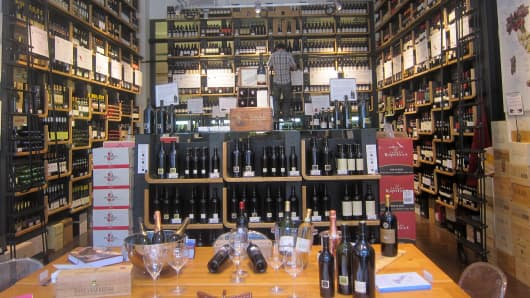 Eataly wine store in New York.