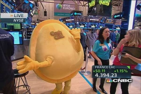 Candy Crush 'candies' at the NYSE