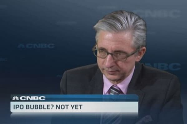 IPO bubble? Not yet