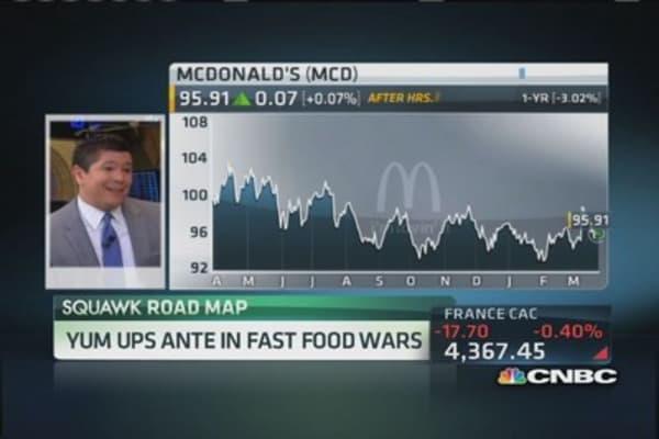 Yum ups ante in fast food wars