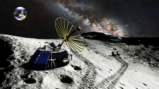 America's first private lunar microlander and commercial robot, developed by Moon Express.