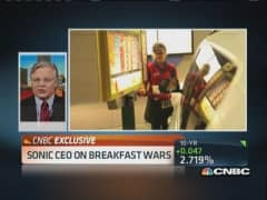 Sonic CEO: Breakfast margins getting 'squeezed'