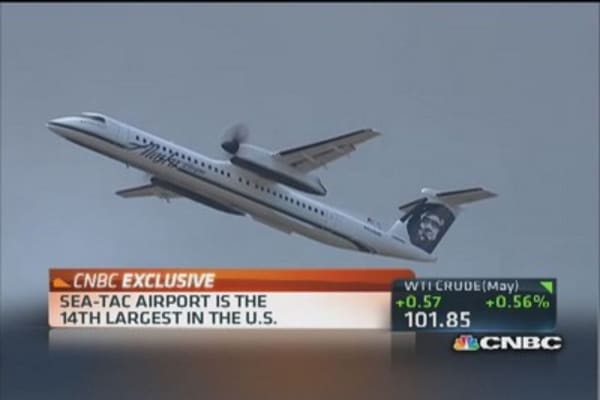 Alaska Air serving over 100 cities