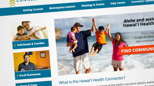 Hawai'i Health Connector website