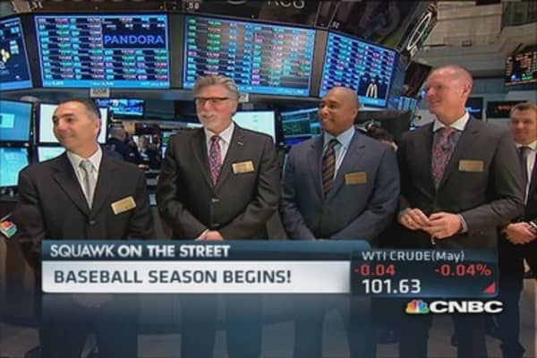 Baseball legends at the NYSE