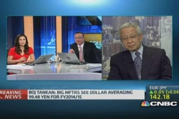 Tankan shows uptick in Japan business sentiment