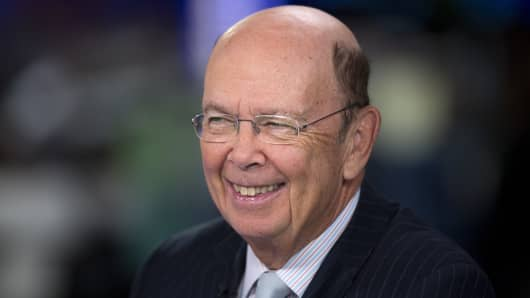 Wilbur Ross, billionaire and chief executive officer of WL Ross & Co.