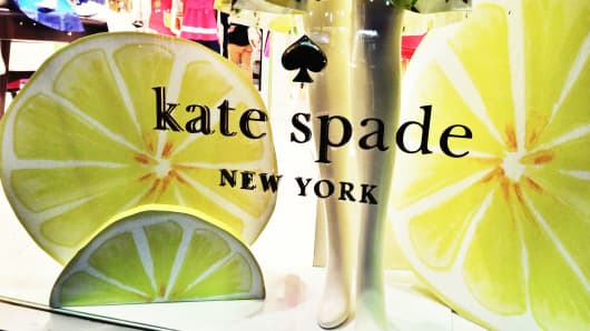 Kate Spade store window in New York City.