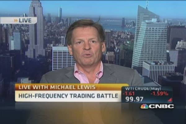 Michael Lewis: HFT traders exploit system