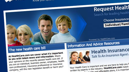 Healthcare.com home page