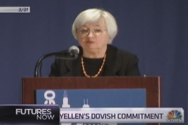Yellen's words boost bonds