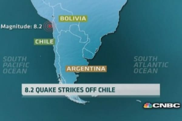 USGS: Chile quake magnitude upgraded to 8.2