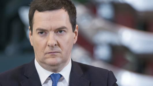 George Osborne, U.K. chancellor of the exchequer