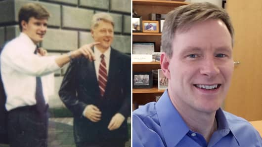 Mark Mahaney then and now.