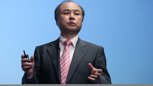 Masayoshi Son, chairman and chief executive officer of SoftBank.