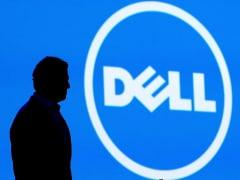 Michael Dell and the Dell logo