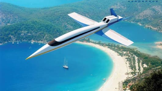 Windowless supersonic jet concept by Spike Aerospace.