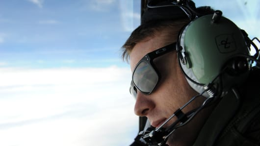 A pilot from a Royal Australian Airforce Orion in the search and rescue mission for missing Malaysia Airlines Flight MH370 over the Southern Indian Ocean.
