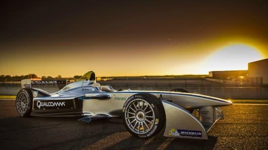 Formula E race car