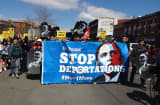 A march to the White House demanding President Barack Obama stop deportations gets underway Saturday, April 5, 2014.