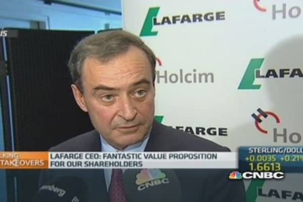 Holcim deal will increase returns: Lafarge CEO