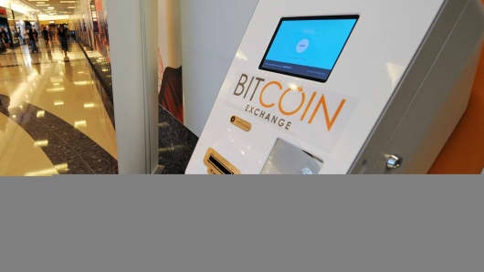 A Bitcoin dispensing machine.