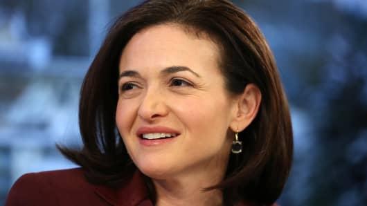 Sheryl Sandberg, billionaire and chief operating officer of Facebook Inc.