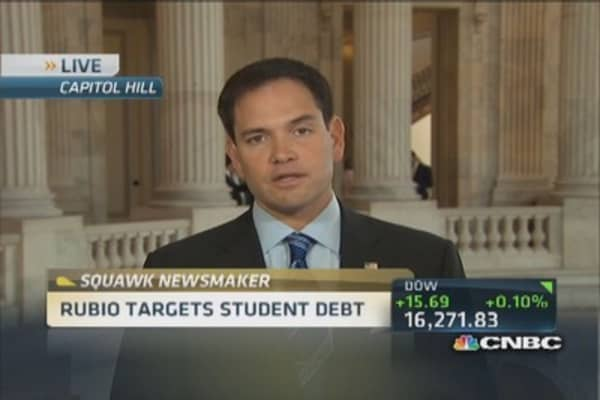 Sen. Rubio targets student loan debt