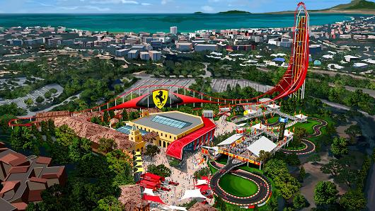 """Ferrari Land"" theme park is scheduled to open in 2016 within the Port Aventura resort near Barcelona, Spain."
