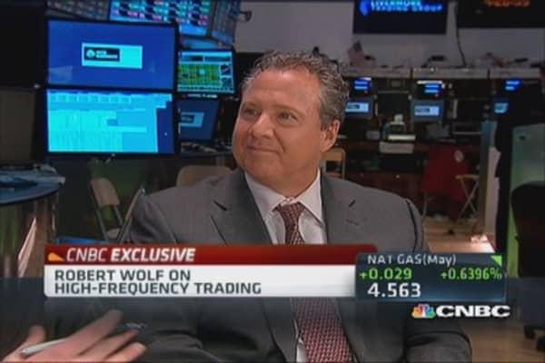 Robert Wolf: Stock market not 'rigged'